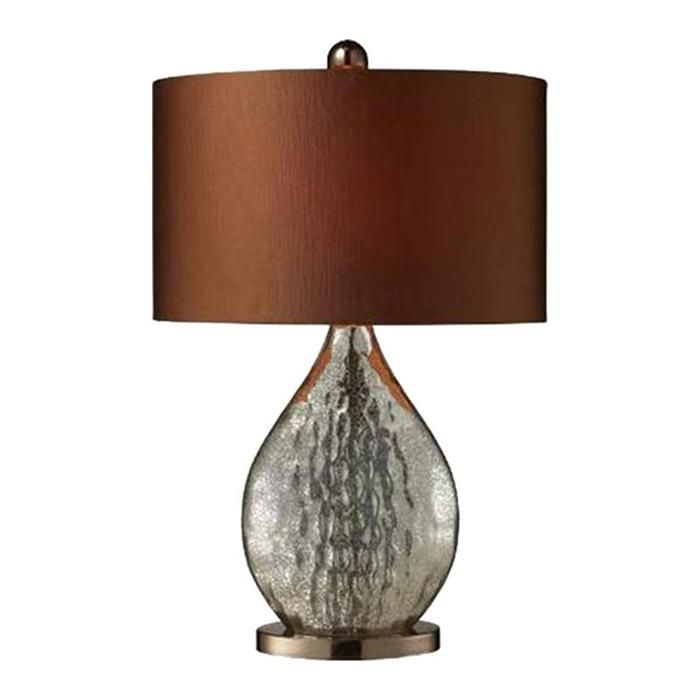 Dimond sovereign 1 light table lamp in antique mercury and coffee plating nebraska furniture mart