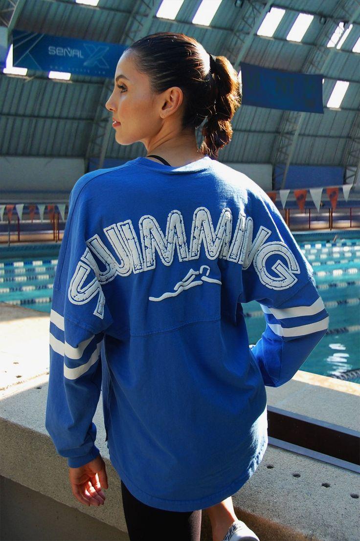 Swimming - Retro Sports Classic Crew Neck Spirit Jersey®