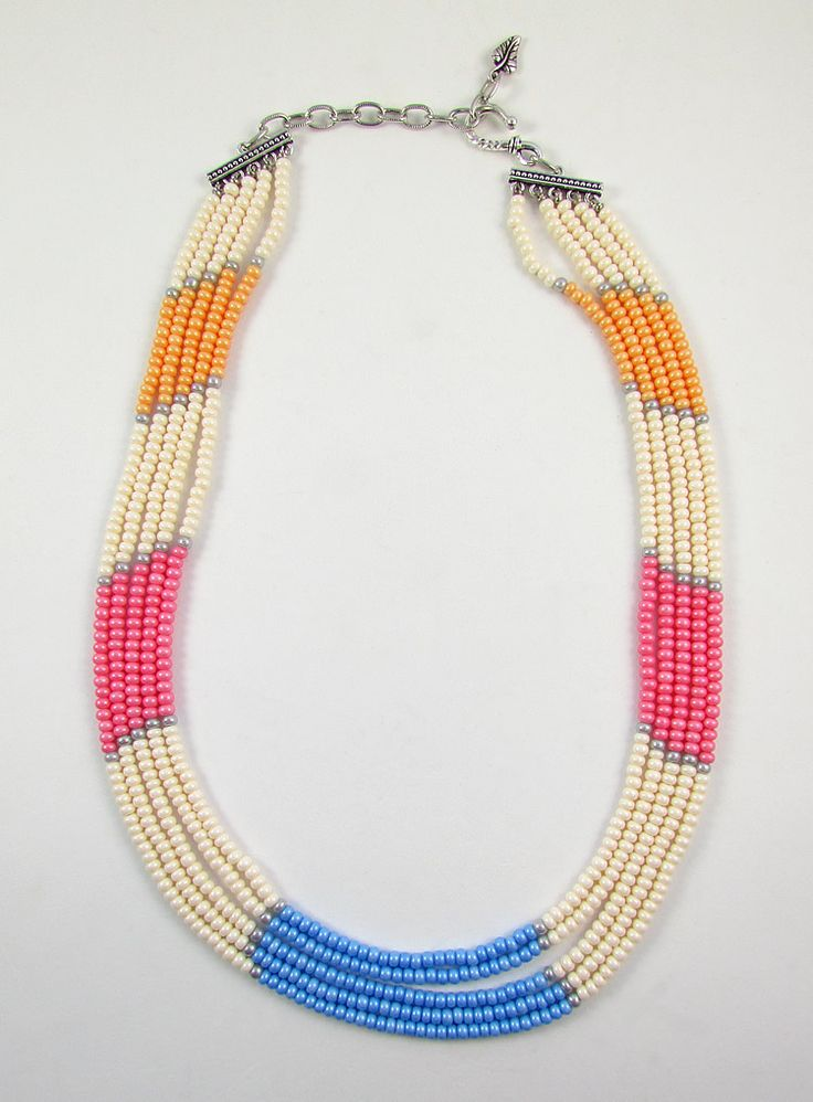 Bold, statement necklaces continue to be a strong trend as we transition into the warmer months. An eye-catching piece can make all the difference in an otherwise bland outfit.  Multi-strand neck…