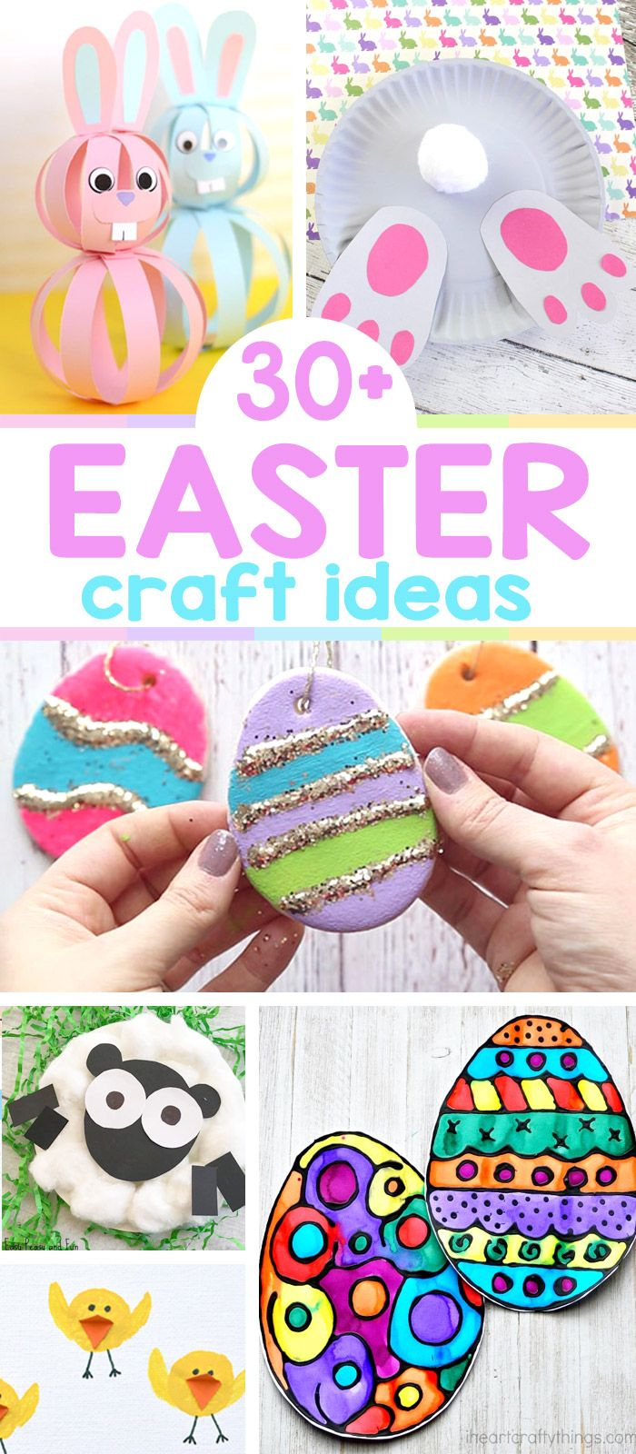 The best Easter crafts for kids to make this year! From fluffy bunnies to adorable chicks! #easter #eastercrafts #kids #easypeasyandfun #kidsactivities
