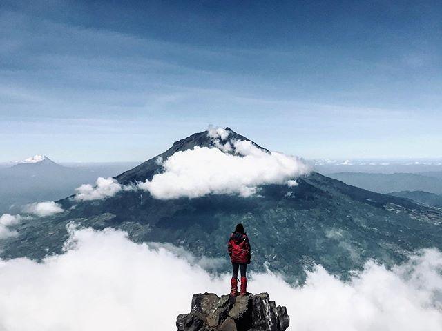 Gunung Sindoro Pemandangan Pegunungan Fotografi Alam