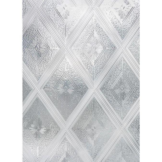 Artscape Diamond Glass 24 In X 36 In Diamond Glass Geometric Privacy Decorative Window Film Lowes Com In 2021 Decorative Window Film Diy Frosted Glass Window Glass Window Decals