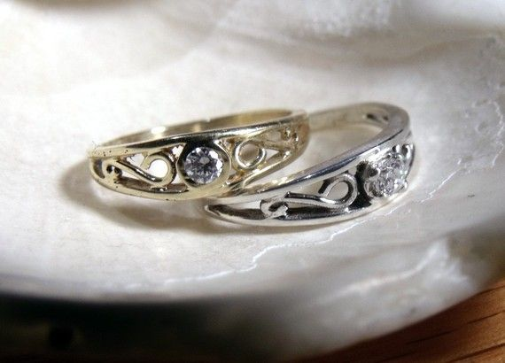 The Crow engagement ring in 14K and Diamond RF180d by RioFire on Etsy, $289.00