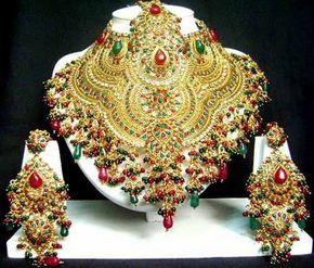 Mehandi PROJETOS WORLD: Conjuntos de Jóias do Sul Noiva indiana Projetos Mais atrasados bonito - Jóias da moda