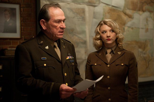 Still of Tommy Lee Jones and Natalie Dormer in Captain America: The First Avenger (2011)