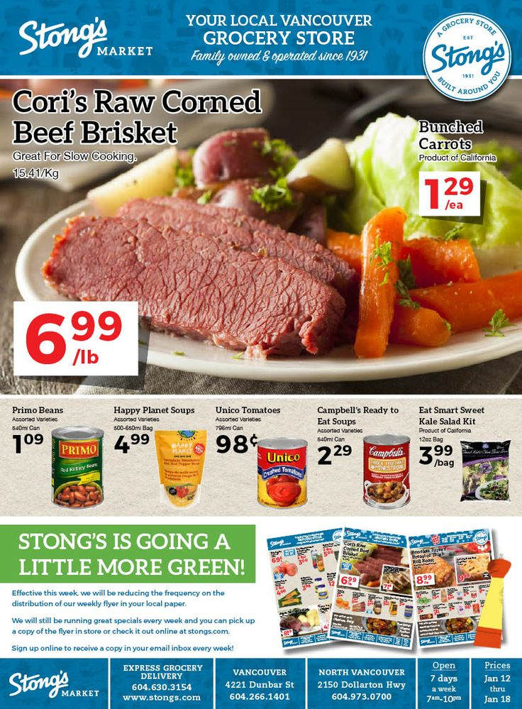 Stong's weekly flyer runs Friday to Thursday each week. Checkout this week's deals! Shop for groceries online or in store!