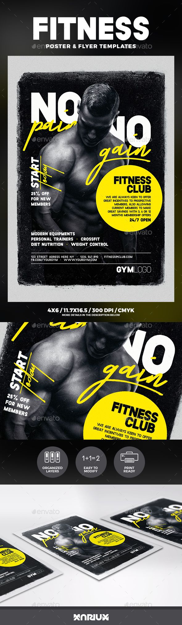 #Fitness #Flyer & Poster - Sports Events