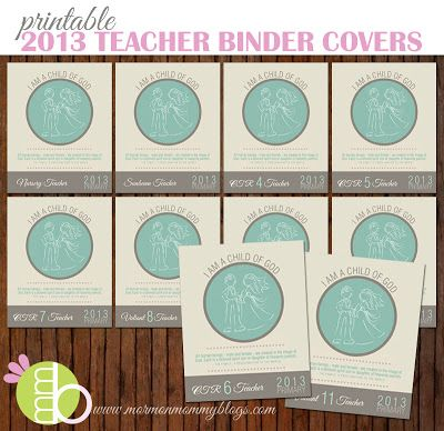 2013 Primary Theme Teacher Binder Covers | Paper Crafts | Pinterest