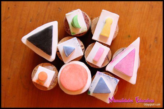 Manualidades Educativas: Sellos de los Símbolos Gramaticales Montessori DIY (Montessori Grammar Symbol Stamps DIY)