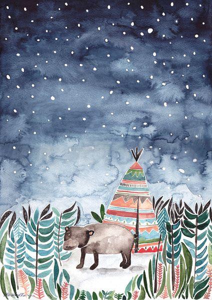 Poster Kleiner Bär von Gretas Schwester auf DaWanda.com