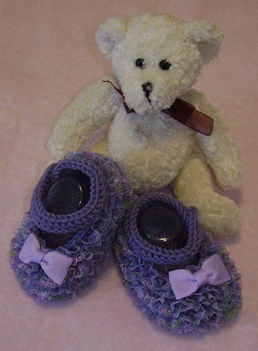 Lace Mary Jane Baby Shoes. Handknitted by me. Available in different colours on website or FB page. Butterfly Babywear Boutique.