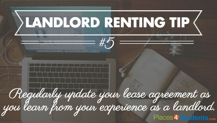 Landlord #Renting Tip: Periodically update your #lease agreement  #studenthousing #multifamily