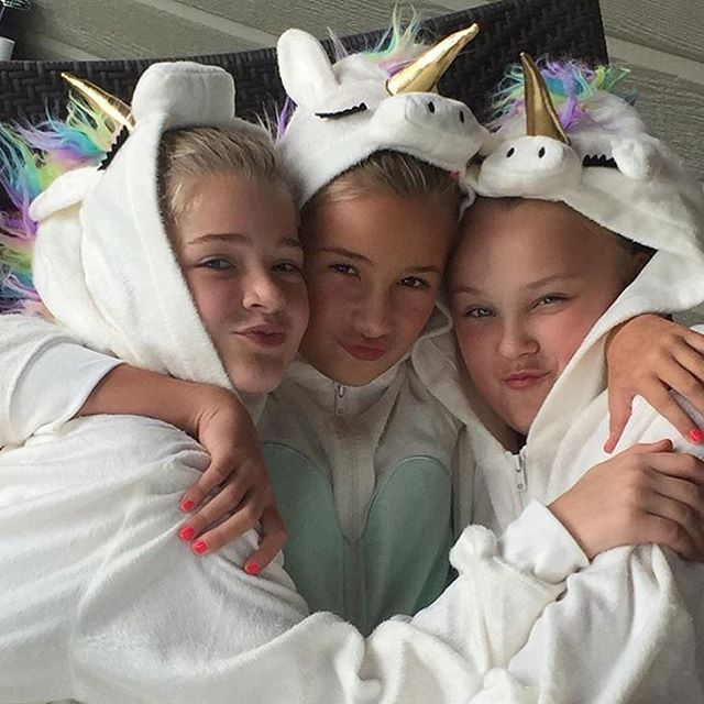"""2,385 Likes, 12 Comments - Beth  (@dancemomofficialspoilers) on Instagram: """"JoJo with her friends at a sleepover yesterday! I want one of these onesies  #dancemoms…"""""""