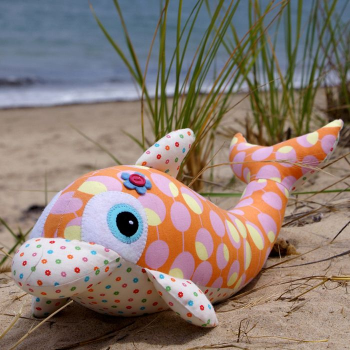 "Who doesn't love dolphins? – They are just too darned cute! Make yourself this cute and cuddly version to bring the magic of the ocean into your home. A quick and simple project that would appeal to all! This pattern is suitable for all skill levels. Completed size: Approximately 42cm (16½"") long. Both physical and..."