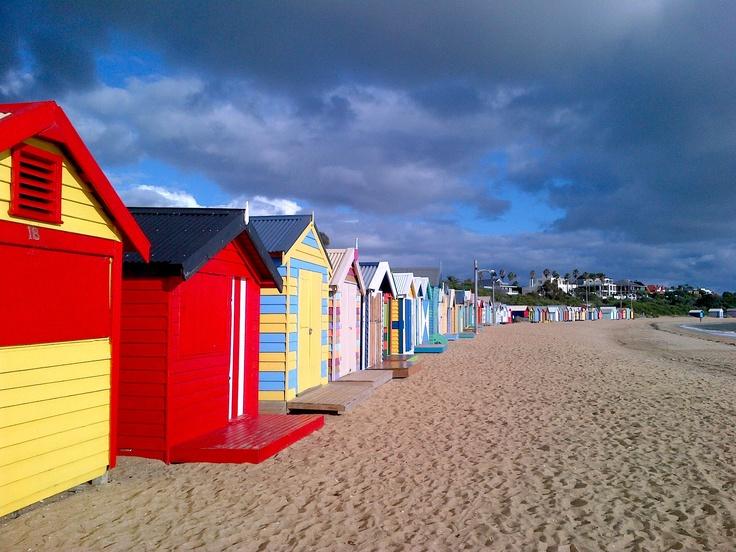 Brighton Beach, Melbourne Painted Cabanas