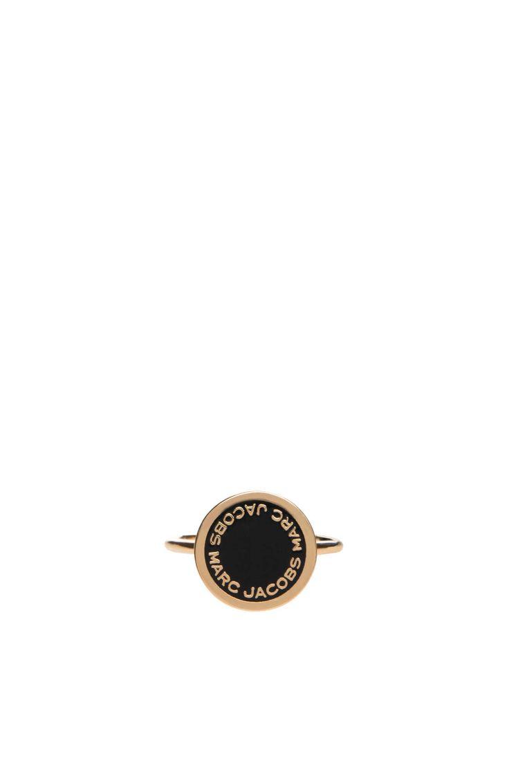 Ring Logo Disc BLACK/GOLD - Marc Jacobs - Designers - Raglady