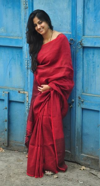 PALASH PLA SAREE (RED)