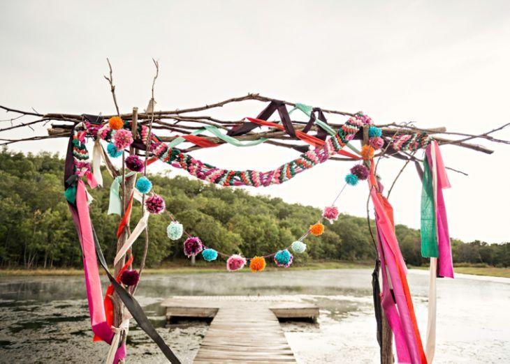arco para boda en lago