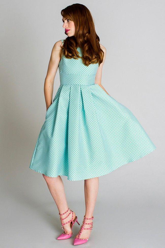 Klänning Amanda - Grön