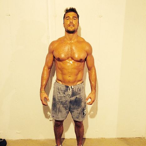 """Bachelor Chris Soules goes Shirtless, Is Undeniably Hot: See the Sweaty, Hot Photo - Us Weekly. Ladies and gentlemen: Your buff Bachelor. Season 19 hunk Chris Soules has a ridiculous hot body, and the evidence was revealed via Facebook on Tuesday, Jan. 6, by Bachelor in Paradise star Michelle Money.""""I just have to say- I am so proud to say that @cody_sattler worked his tail off to get Chris in amazing shape before the show!"""" Money, 34, wrote alongside a shirtless photo of the Iowa farmer."""