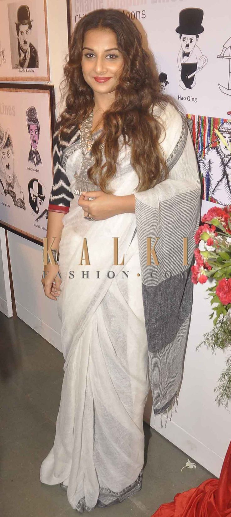 Must have Bollywood style! Find a style match to the celebrity look of your choice @ http://www.kalkifashion.com/sarees.html