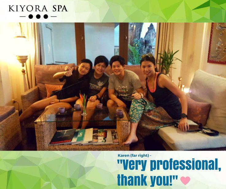 Karen's group were ecstatic after their massage.   Read more reviews here:  www.kiyoraspa.com/reviews/  #kiyoraspa #luxuryspa #dayspa #serviceexcellence #thailand #chiangmai