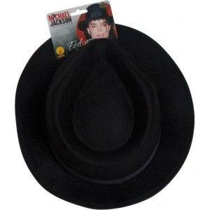 Chapeau Michael Jackson™ enfant, Chapeau fedora noir luxe, licence Michael Jackson, années 70, danse, spectacle, anniversaire, fêtes, carnaval