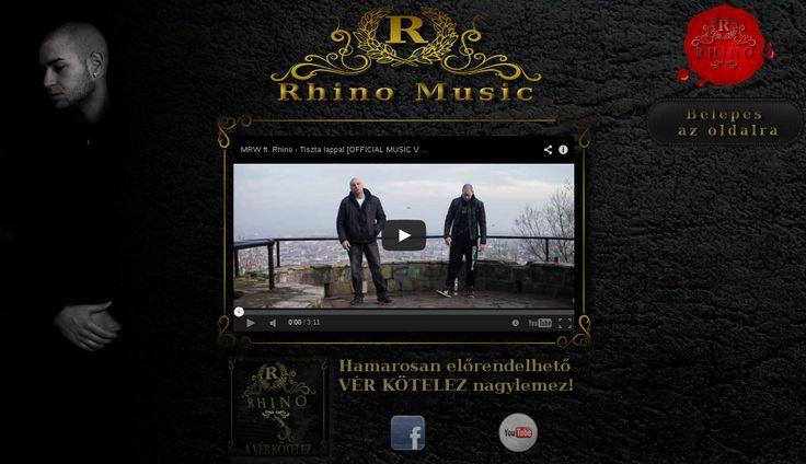 Rhino Music Home RHINO becsületes nevén Balogh Edvárd; egy komáromi Rap zenész és előadóművész. Hosszú éveken keresztül a Real Trill Music lemezkiadó cégnél dolgoztunk együtt, természetesen én Webmesterként. Szóló karrierje kezdetén felvettünk egy szorosabb kapcsolatot és így készült el egy fekete alapon aranyozott patinás honlap melyhez zenészi-kisarculatként készült CD borító terv és névjegykártya.  A honlap indexe a www.rhinomusic.eu címen érhető el.