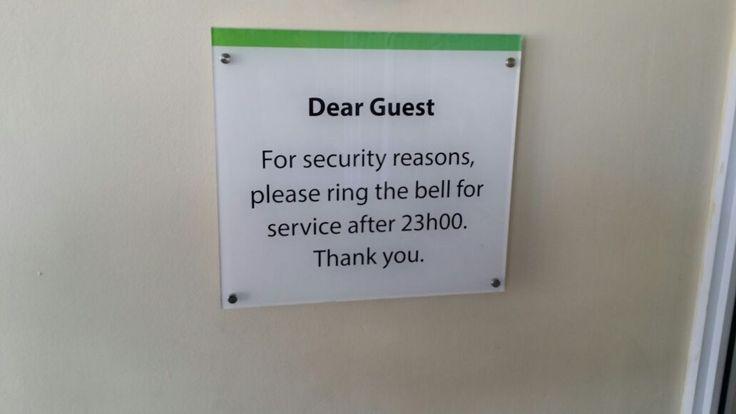Holiday Inn Notice #sign #interior #hotel #design