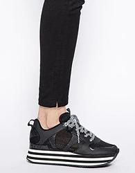 Scarpe low cost 2014: DKNY scarpe flatform nere