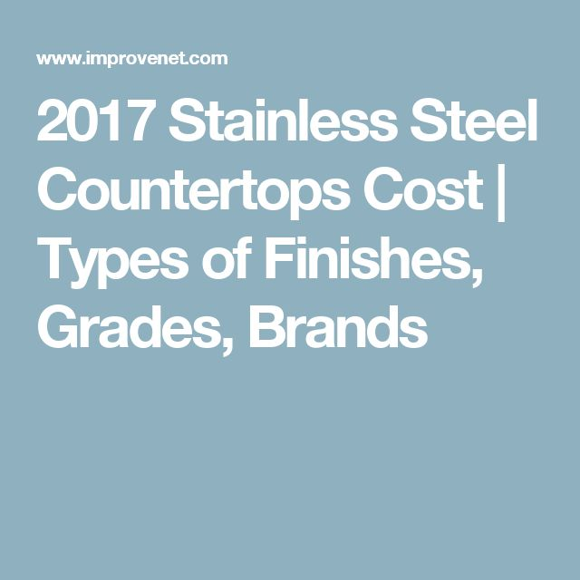 2017 Stainless Steel Countertops Cost | Types of Finishes, Grades, Brands