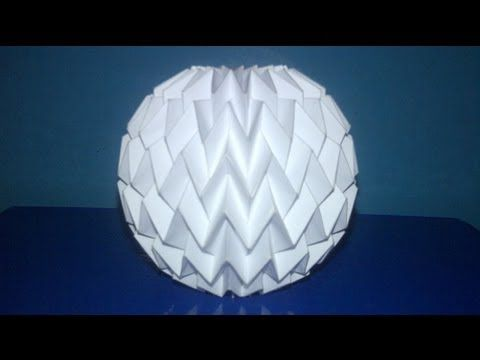Tutorial 3 - Folding Ball With Pattern Miura (Neospica Neoliveart) - YouTube