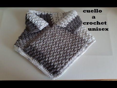 en venta f3649 040d0 cuello a crochet para hombre y mujer paso a paso muy facil ...