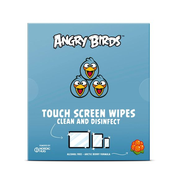 Angry Birds Touch Screen Wipes by Nordic Hug My phone and tablet feel like new!