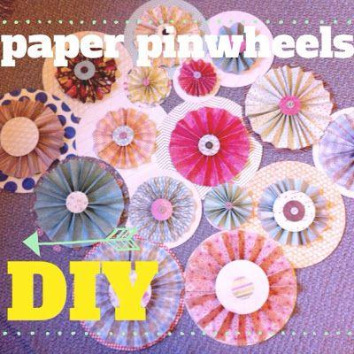 DIY Paper Pinwheels Tutorial {Monday Made It}