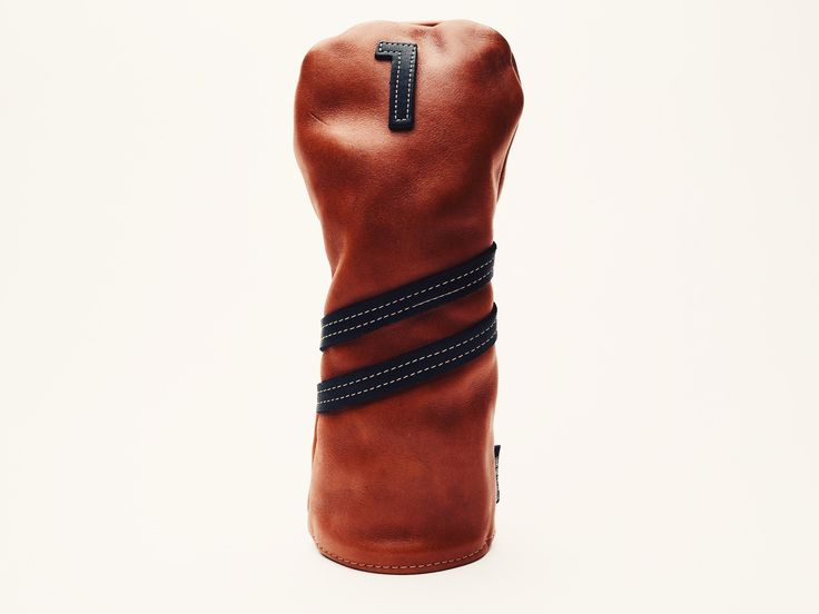 Americana Edition leather golf Headcover in Chestnut Driver