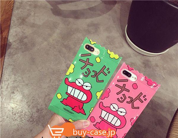 iphone7 キャラクター シリコンキャンディ菓子鰐ワニ クレヨンしんちゃんアイフォン6sケース/plus保護カバーかわいいカップル向けペアケース耐衝撃チョコビ