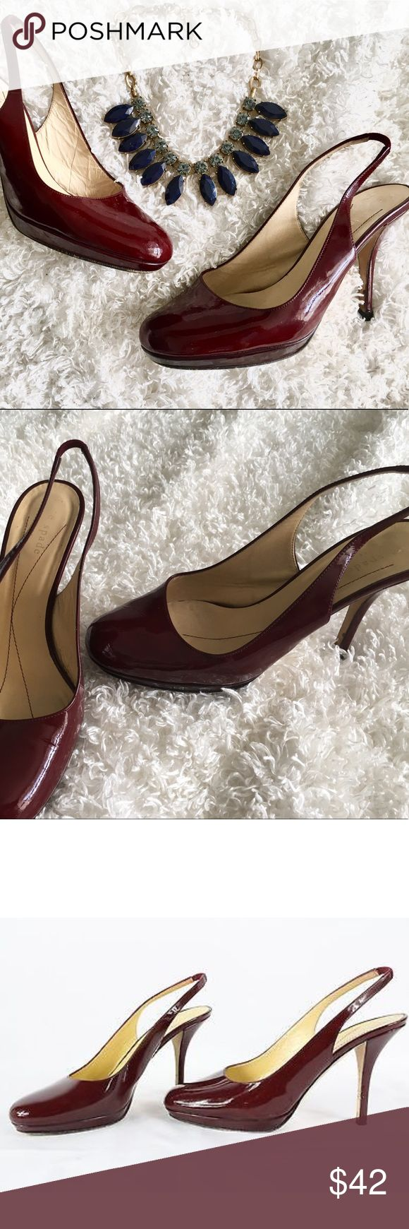 SUNDAY FLASH SALE ⚡️Kate Spade Ruby Sling Heels Kate Spade KENZIE Ruby Patent Slingback Heels Size 7 Item includes original shoes box.  Preloved see pictures  Smoke free home kate spade Shoes Heels