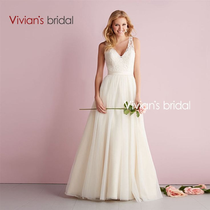 Find More Wedding Dresses Information About Vivians Bridal Simple Cheap A Line Lace Dress Bride