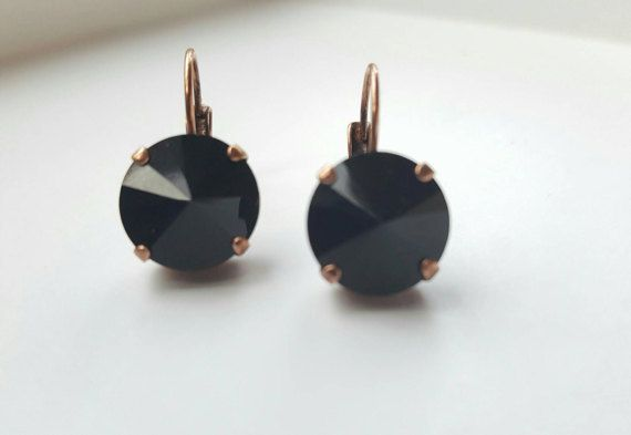 Check out this item in my Etsy shop https://www.etsy.com/ca/listing/501292854/onyx-crystal-drop-earring-12mm-round