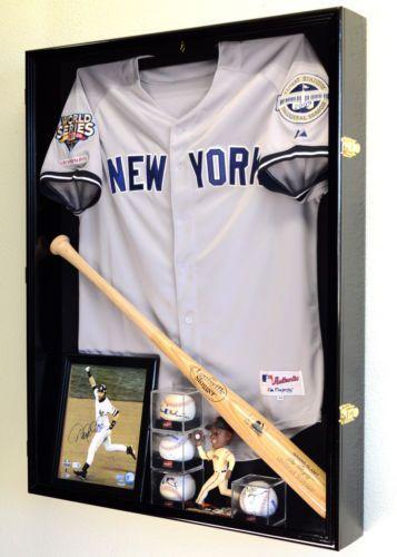 Deep-Sports-Jersey-Shadow-Box-Display-Case-Cabinet-Baseball-Bat-Balls-Trophies