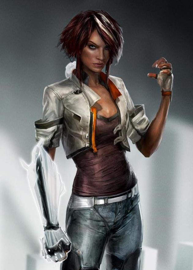 .sexy con su brazo androide - CyberPunk