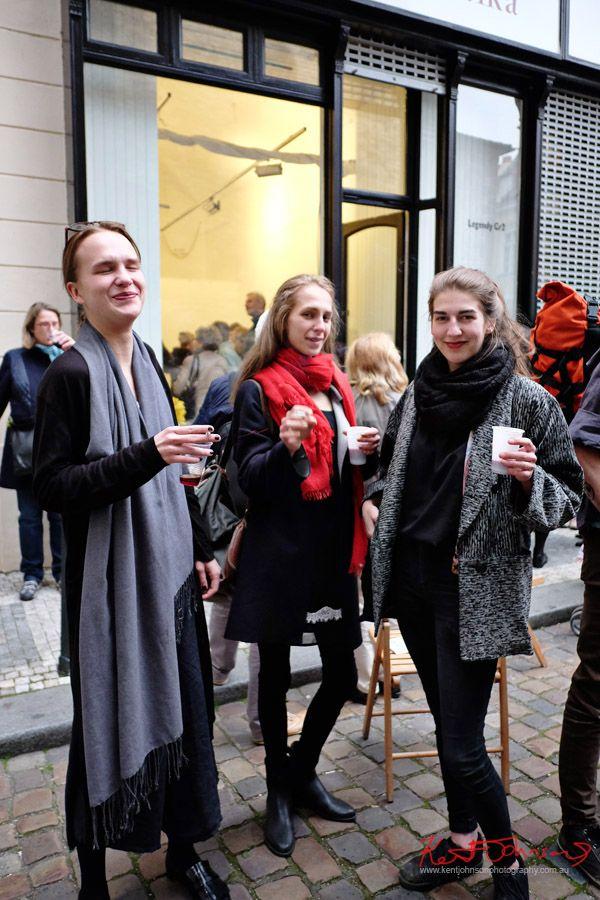 Tomáš Vaněk's LEGENDA GR2 Otevírání umění, Galerie Havelka, Praha. Street Fashion Sydney Prague Edition by photographed Kent Johnson.