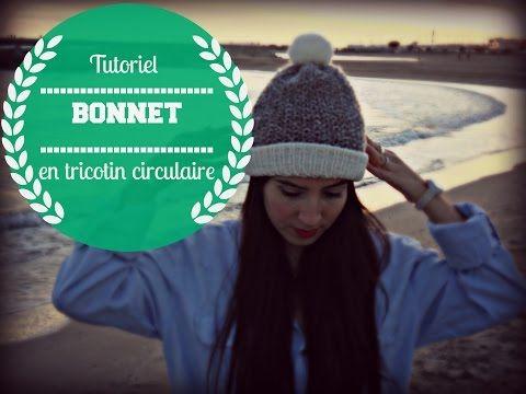 tuto tricotin circulaire géant facile bonnet pour débutant - YouTube