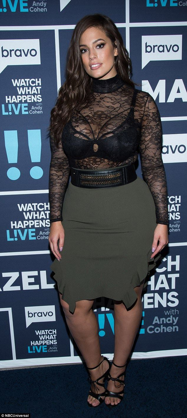 Speaking her mind: Ashley Graham 'appeared shocked that no one in Jenner's camp questioned the ad' and suggested it was 'a bad idea'