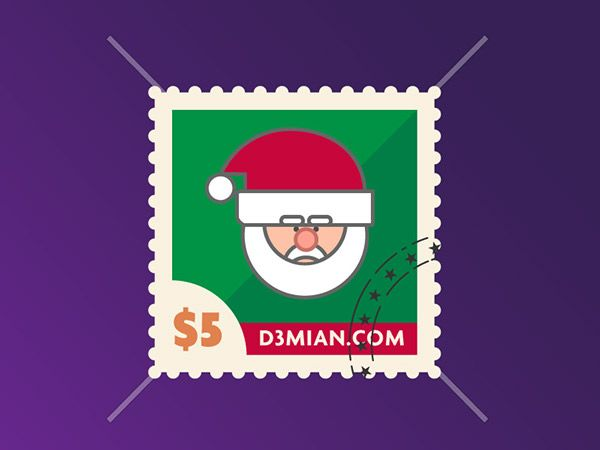 Christmas stamps - Estampillas de Navidad on Behance