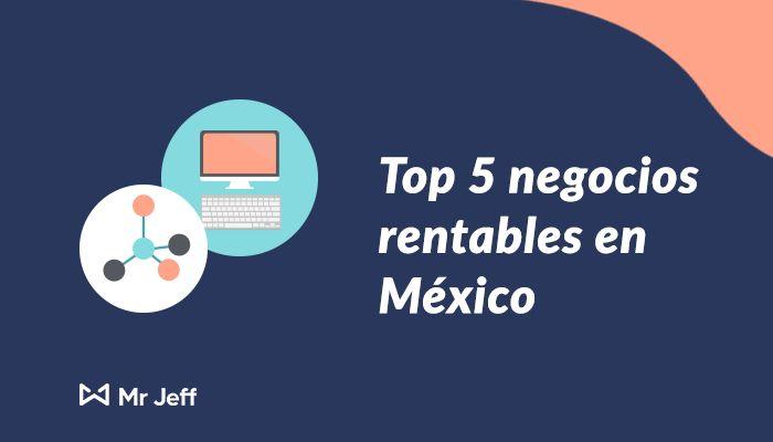top 5 negocios rentables en mexico #negociosrentalbes #franquicias