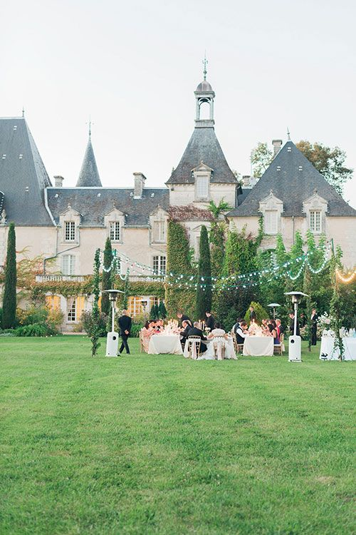 Romantic Multi-Day French Chateau Wedding, Outdoor Wedding Reception | Brides.com