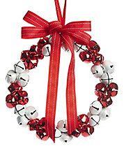 Winter Charms Jingle Bell Wreath