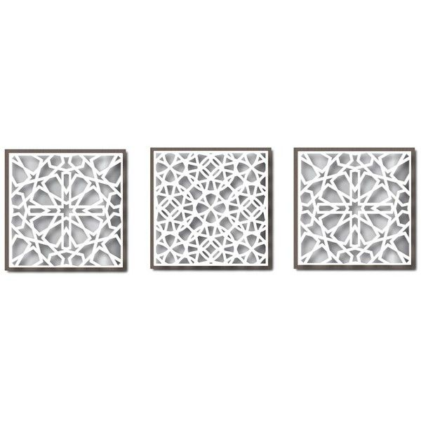 """Layered Card Stock Wall Art - 10"""""""" x 10"""""""" ($25) ❤ liked on Polyvore featuring home, home decor, wall art and assorted ast"""